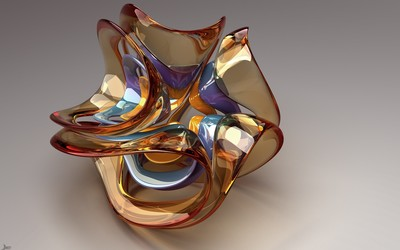 Glass sculpture wallpaper