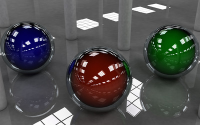 Glass spheres wallpaper