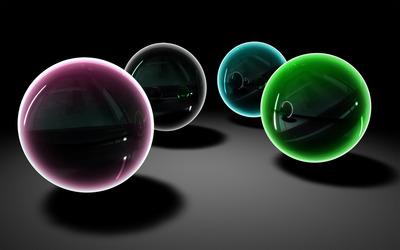 Glass spheres [3] wallpaper