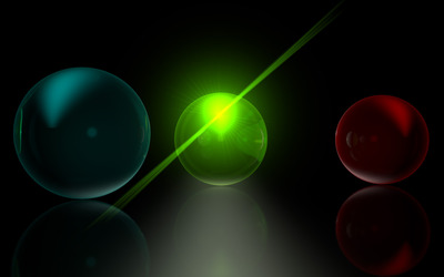 Glass spheres [5] wallpaper