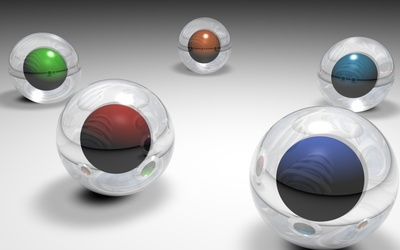 Glass spheres [4] wallpaper