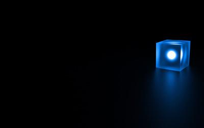 Glowing cube wallpaper