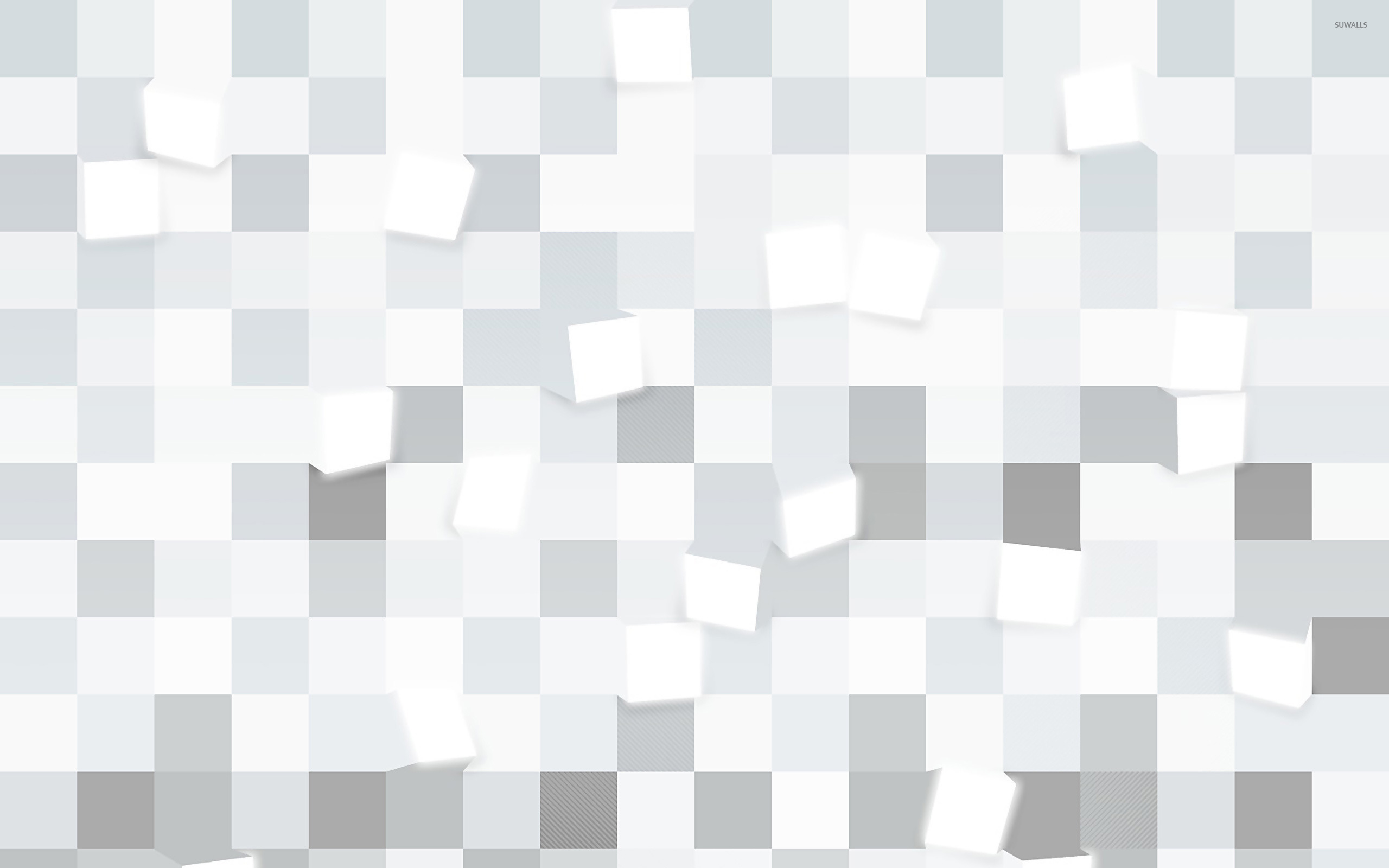 e886fd22f5fd8 Glowing gray cubes wallpaper - 3D wallpapers - #25156
