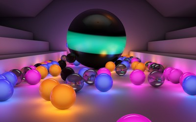 Glowing marbles wallpaper