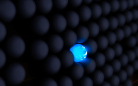Glowing sphere in a wall wallpaper 1920x1200 jpg