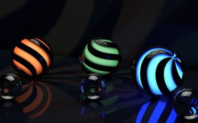 Glowing spheres wallpaper