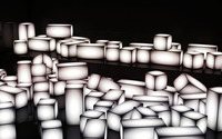Glowing white cuboids wallpaper 2560x1440 jpg