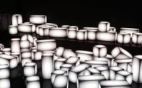 Glowing white cuboids wallpaper 2560x1440 jpg