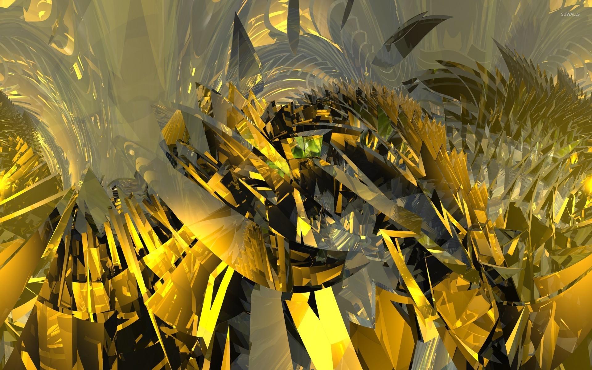 Gold Shards Wallpaper 3D Wallpapers 24347