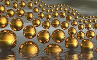 Gold spheres wallpaper 1920x1080 jpg