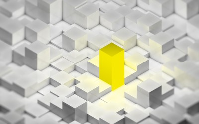 Golden cube wallpaper
