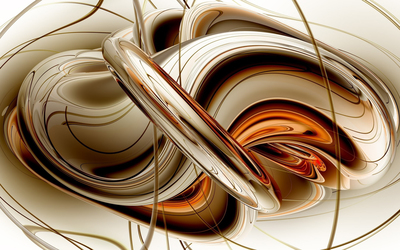 Golden metallic shapes wallpaper