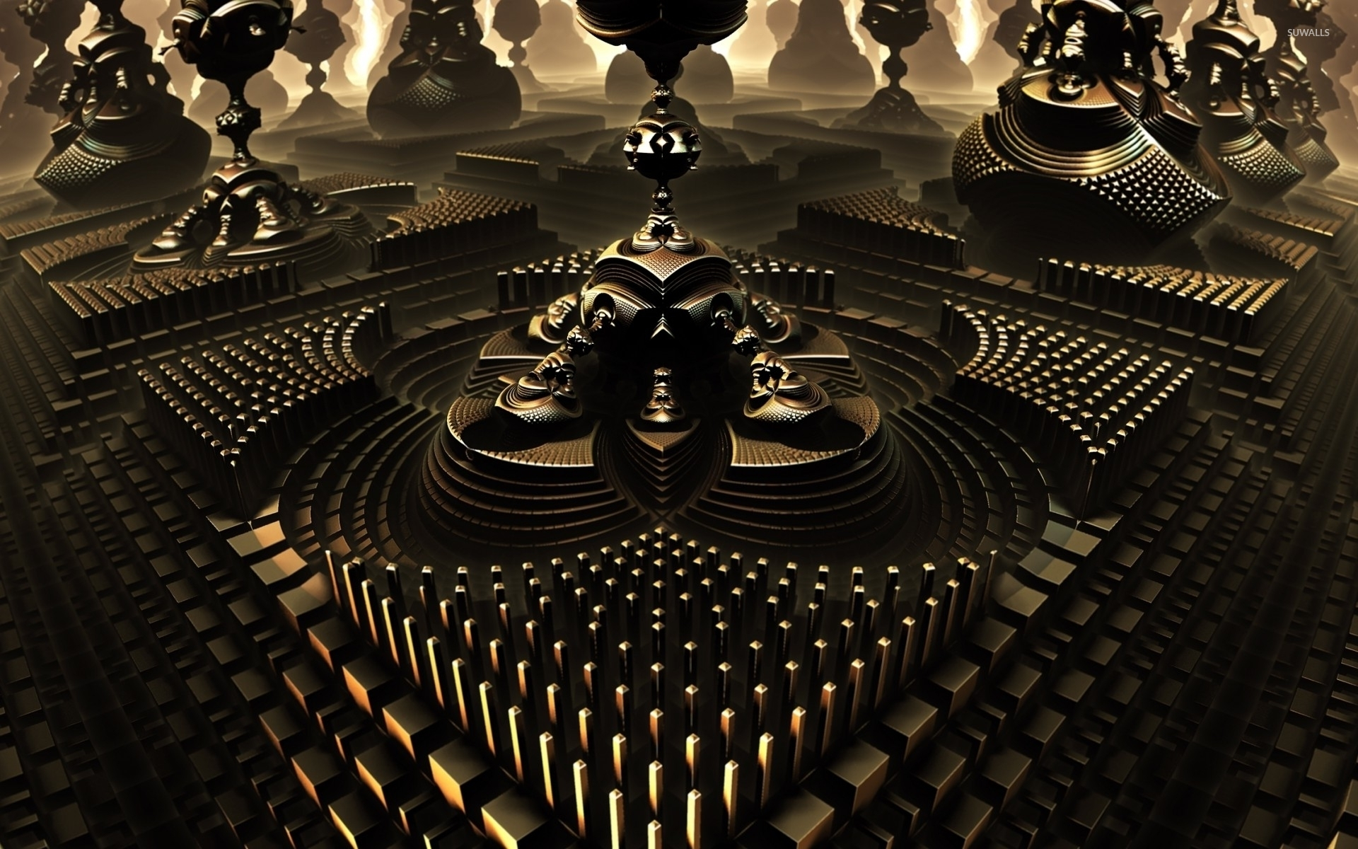 Golden temples wallpaper · 3D · Curve · Shape · 1920x1200 ...