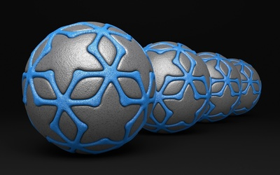 Gray and blue balls wallpaper