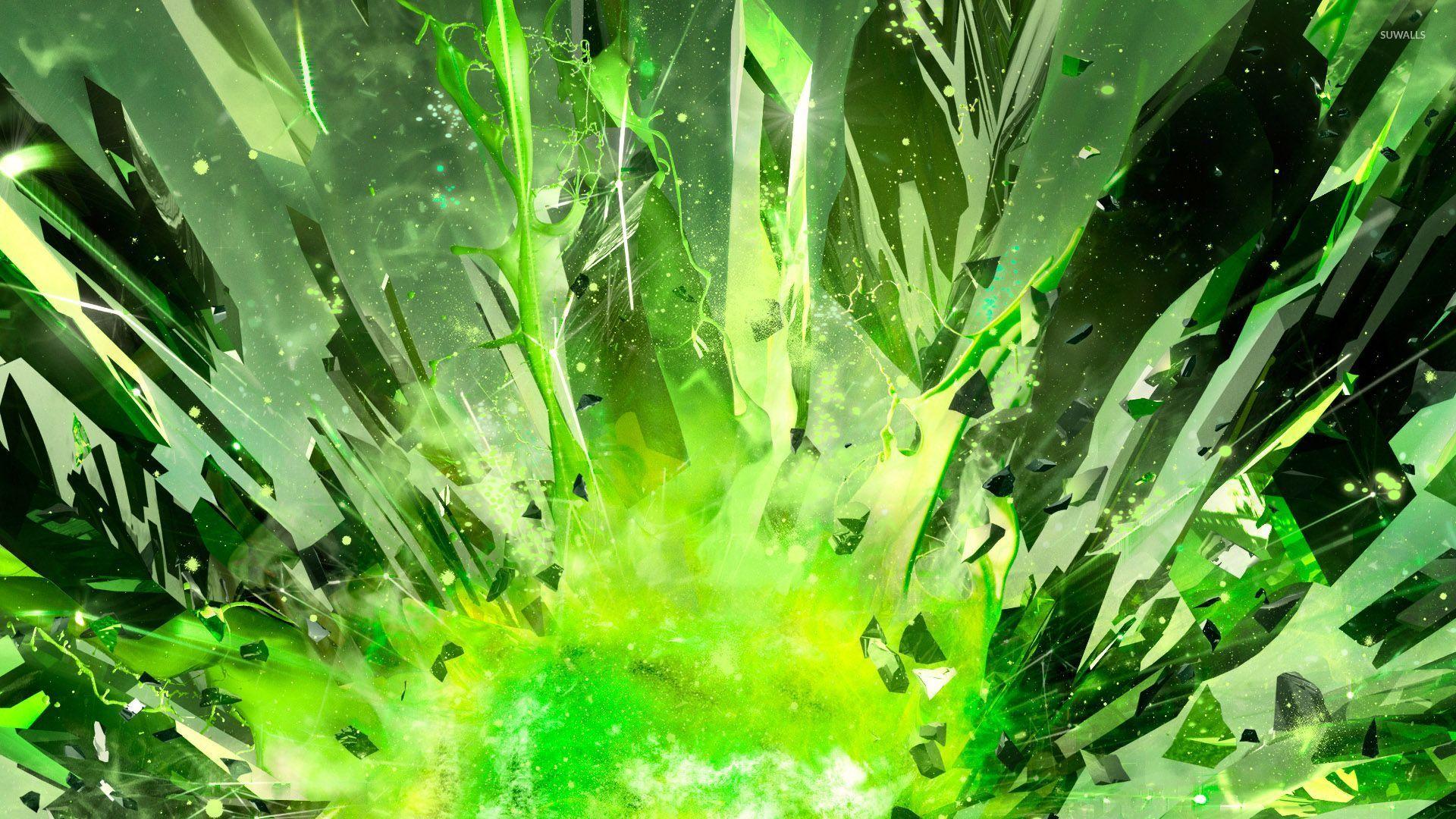Image result for green glass shards