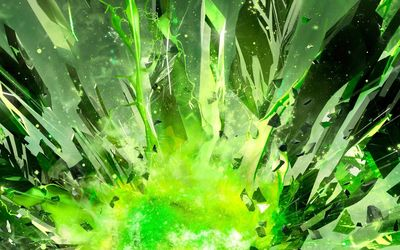 Green crystal shards wallpaper
