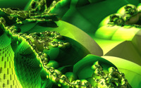 Green fractal design wallpaper 2560x1600 jpg