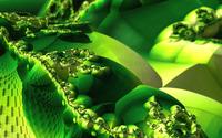 Green fractal design wallpaper 2560x1600 jpg