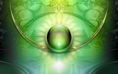 Green orb wallpaper