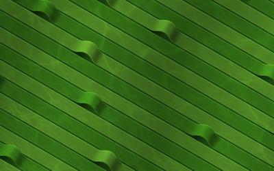 Green ribbons wallpaper