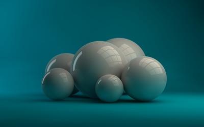 Grey spheres Wallpaper
