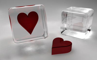 Heart cubes [2] wallpaper