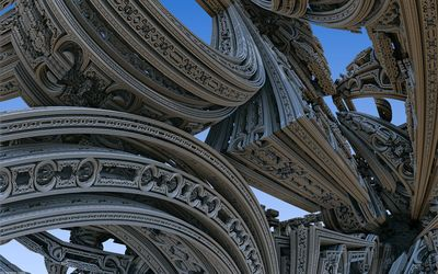 Interesting architectural design wallpaper