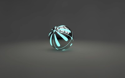 Lit metallic orb wallpaper