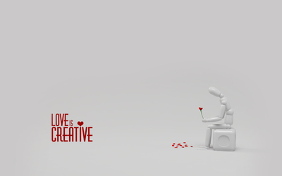 Love is creative wallpaper