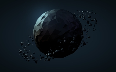 Low poly planet wallpaper