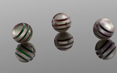 Metal spheres wallpaper