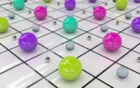 Metallic balls wallpaper 1920x1200 jpg
