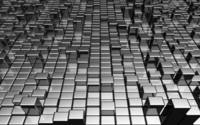 Metallic gray cubes wallpaper 2560x1600 jpg