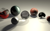Metallic spheres wallpaper 1920x1080 jpg