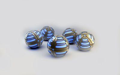 Metallic spheres [2] wallpaper