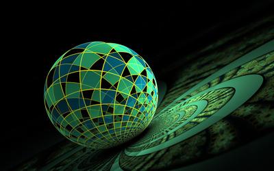 Mosaic sphere wallpaper