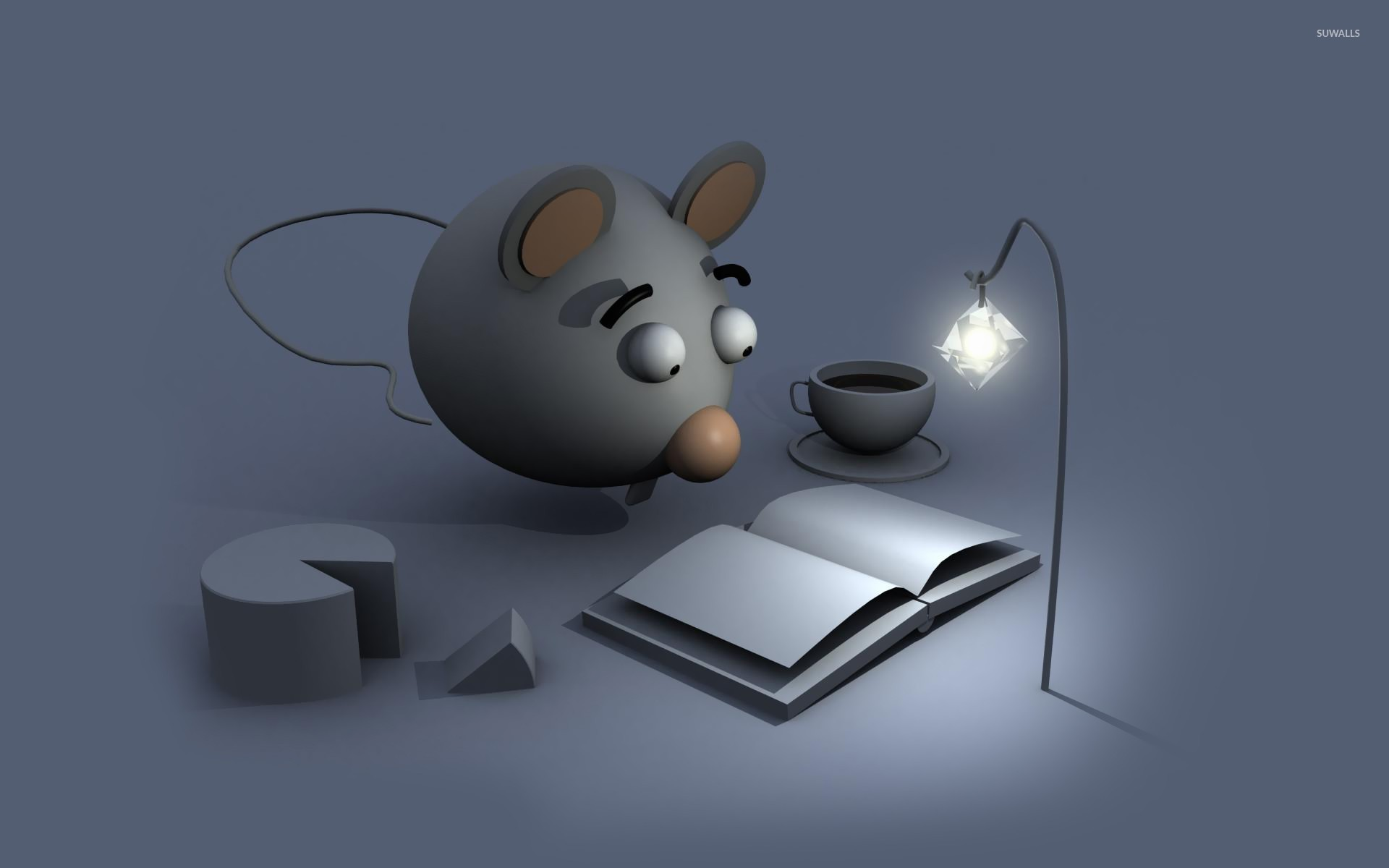 Mouse Reading A Book Wallpaper 3d Wallpapers 20792