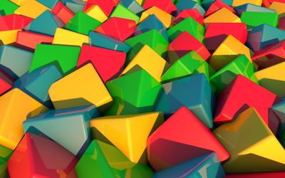 Multicolored cubes [2] wallpaper