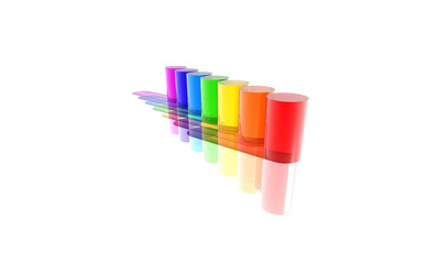 Multicolored cylinders wallpaper