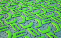 Neon green shapes wallpaper 1920x1200 jpg