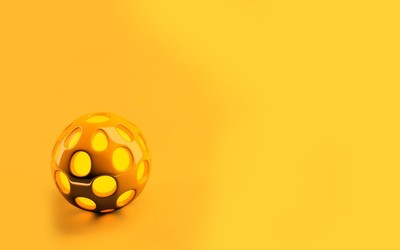 Orange sphere wallpaper