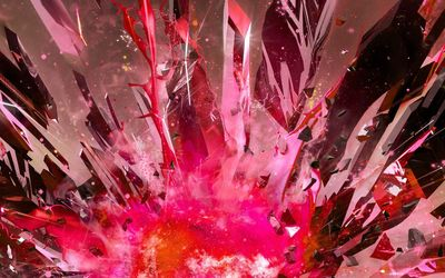 Pink exploding crystals wallpaper