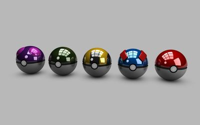 Pokeballs wallpaper