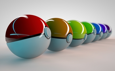Pokemon balls wallpaper