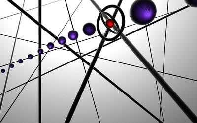 Purple balls floating wallpaper