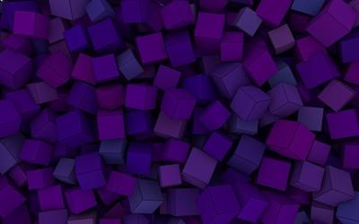 Purple cubes wallpaper