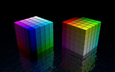 Rainbow cubes wallpaper