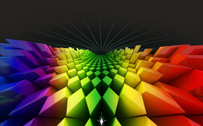 Rainbow rhombuses wallpaper