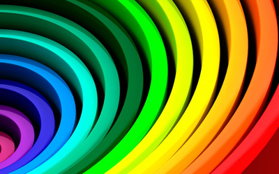 Rainbow rings wallpaper