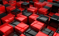 Red and black cubes wallpaper 1920x1080 jpg